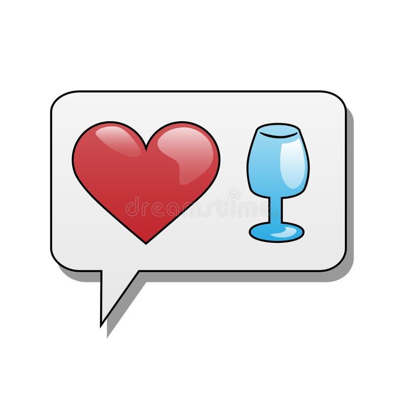 Kocham alkohol ilustracji