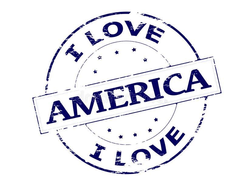 kocham amerykę ilustracji