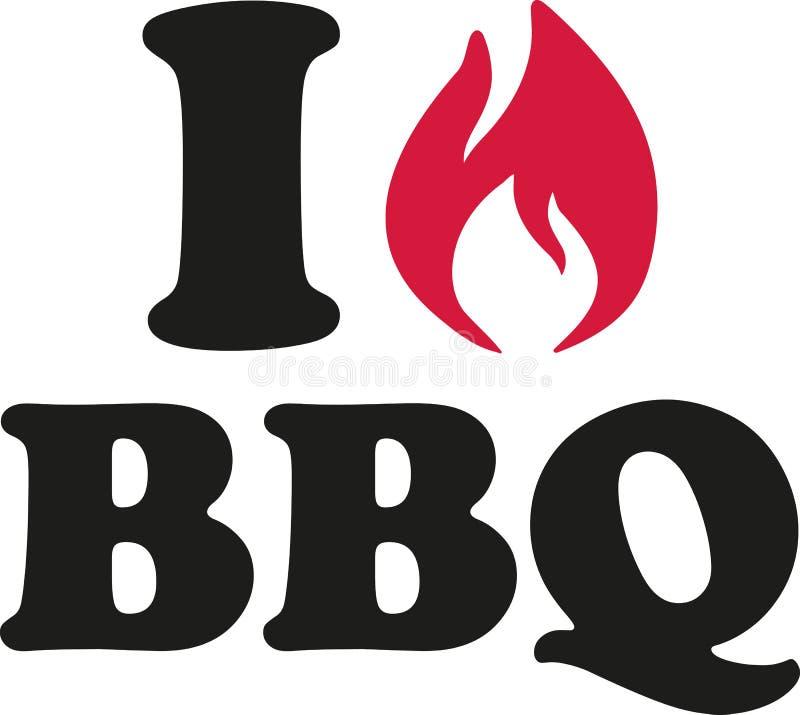 Kocham BBQ royalty ilustracja