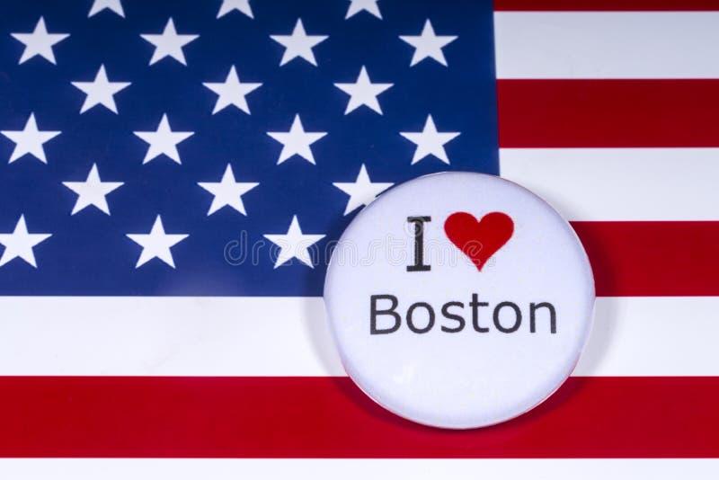 Kocham Boston zdjęcie royalty free