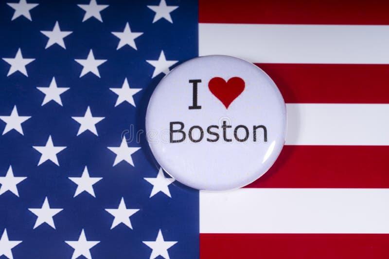 Kocham Boston fotografia royalty free