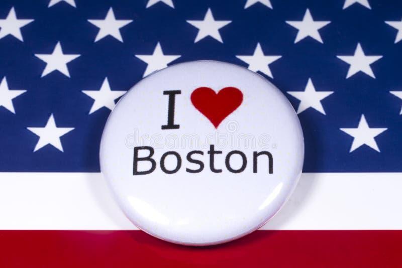 Kocham Boston fotografia stock