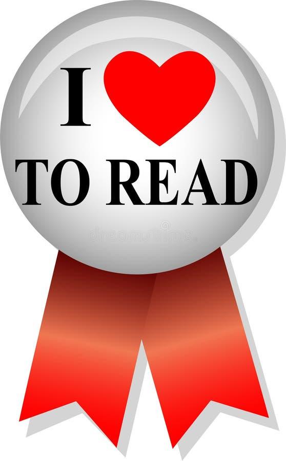 kocham button eps czytałem royalty ilustracja