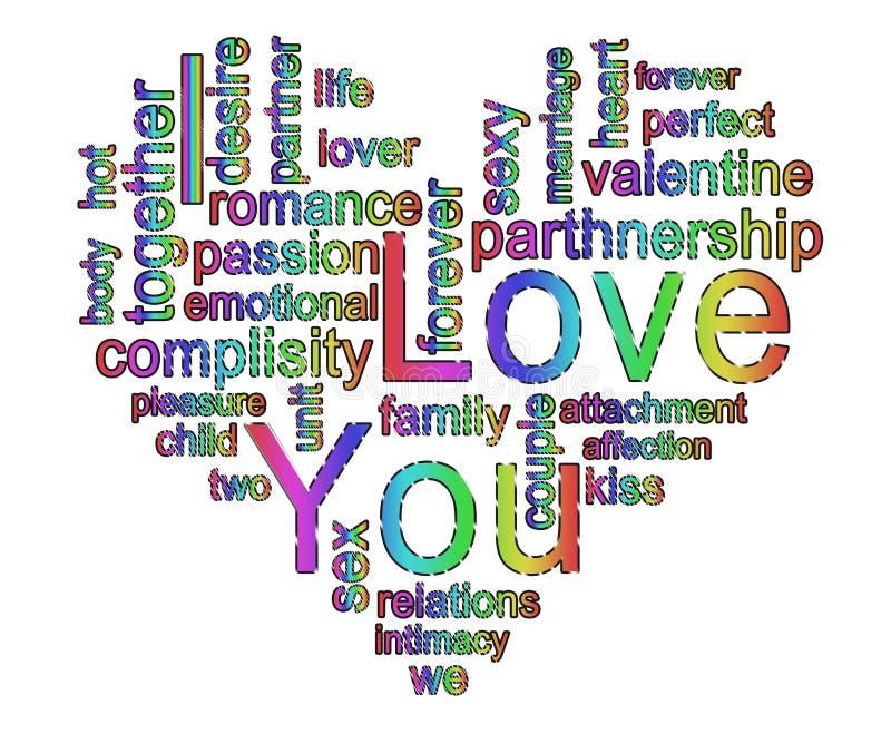 kocham cię Sztandar w unikalnym stylu zdjęcie royalty free