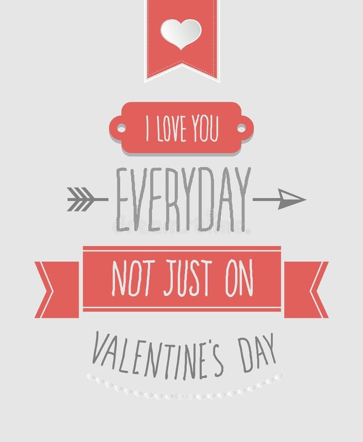 Kocham ciebie codzienni valentines wektorowi ilustracji