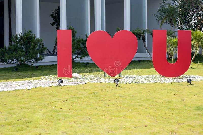 Kocham ciebie listy obrazy stock