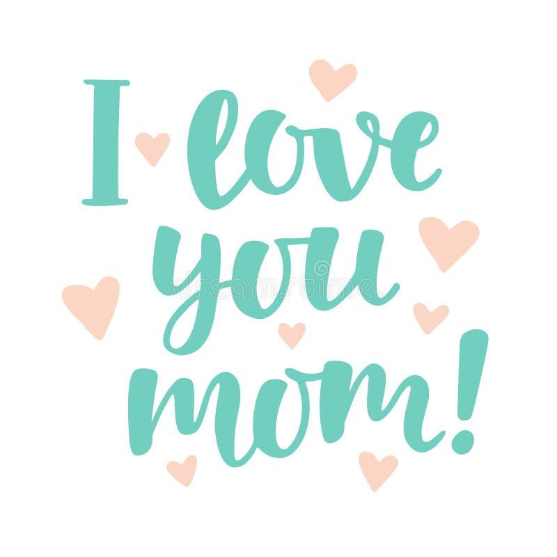 Kocham ciebie, mama ilustracja wektor