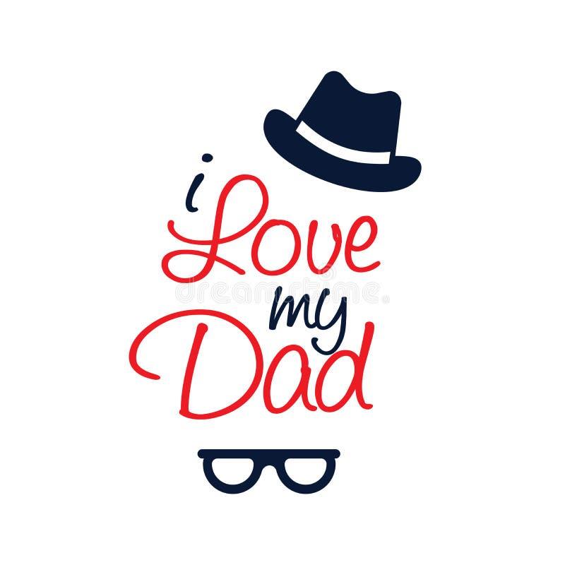 Kocham ciebie tata typografii projekt zdjęcie royalty free
