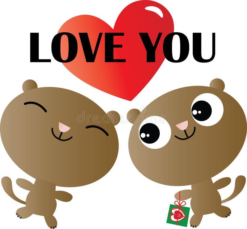 Kocham ciebie valentines inny lub dzień miłości świętowanie ilustracja wektor