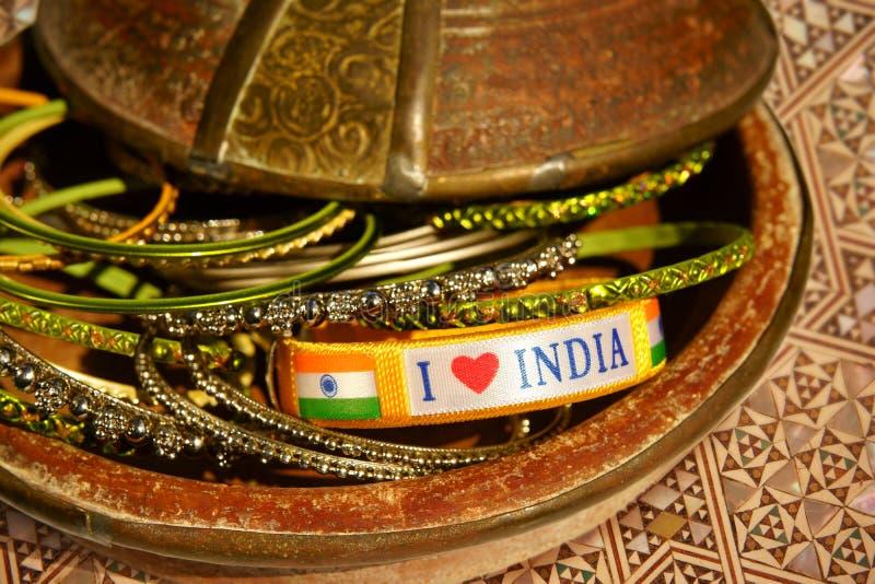 Kocham India wiadomości bransoletki obraz royalty free