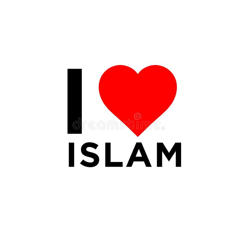 Kocham islam obrazy stock