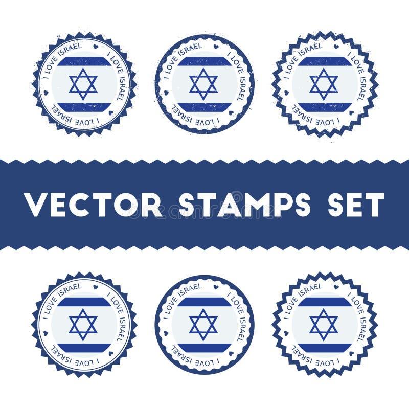 Kocham Izrael wektorowych znaczki ustawiających ilustracji