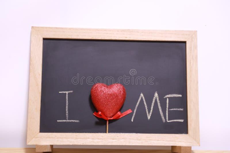 Kocham ja blackboard zdjęcia royalty free