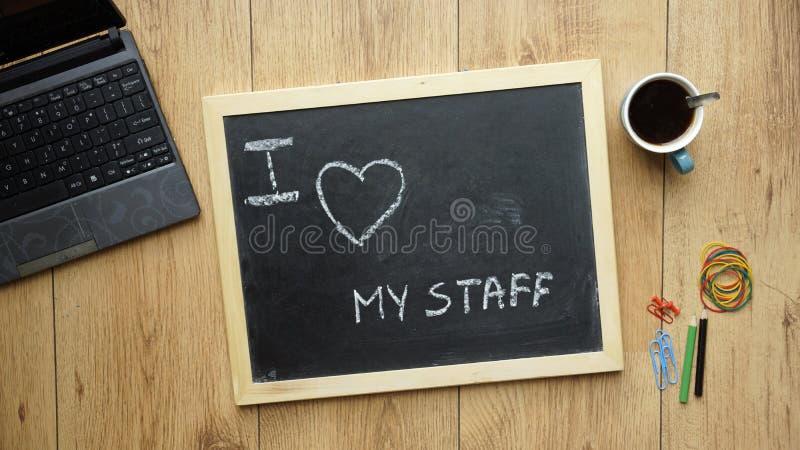 Download Kocham mój personelu obraz stock. Obraz złożonej z biznes - 41954831