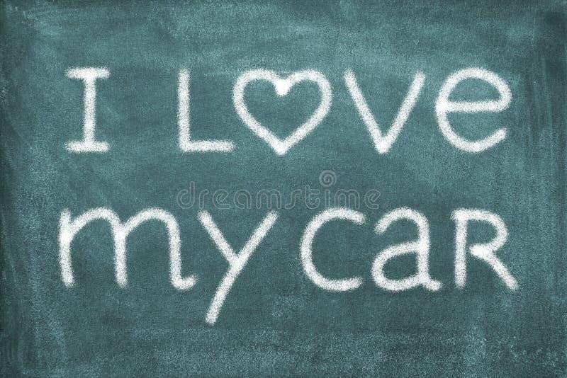 Kocham mój samochód zdjęcie stock