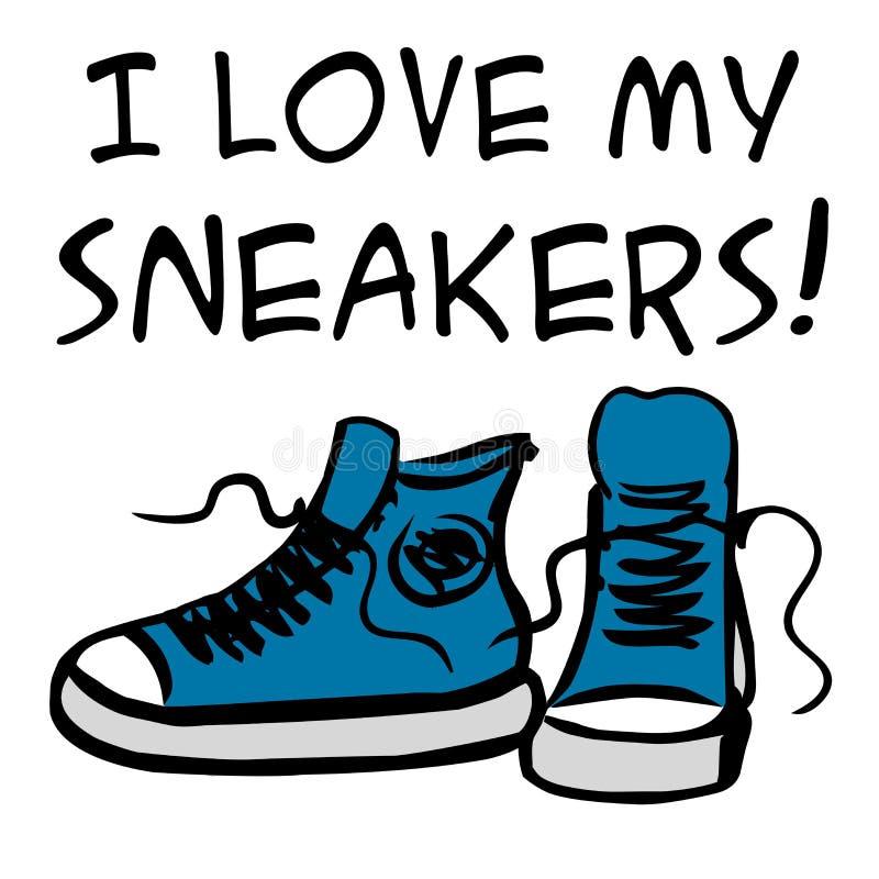 Kocham mój sneakers ilustracja wektor