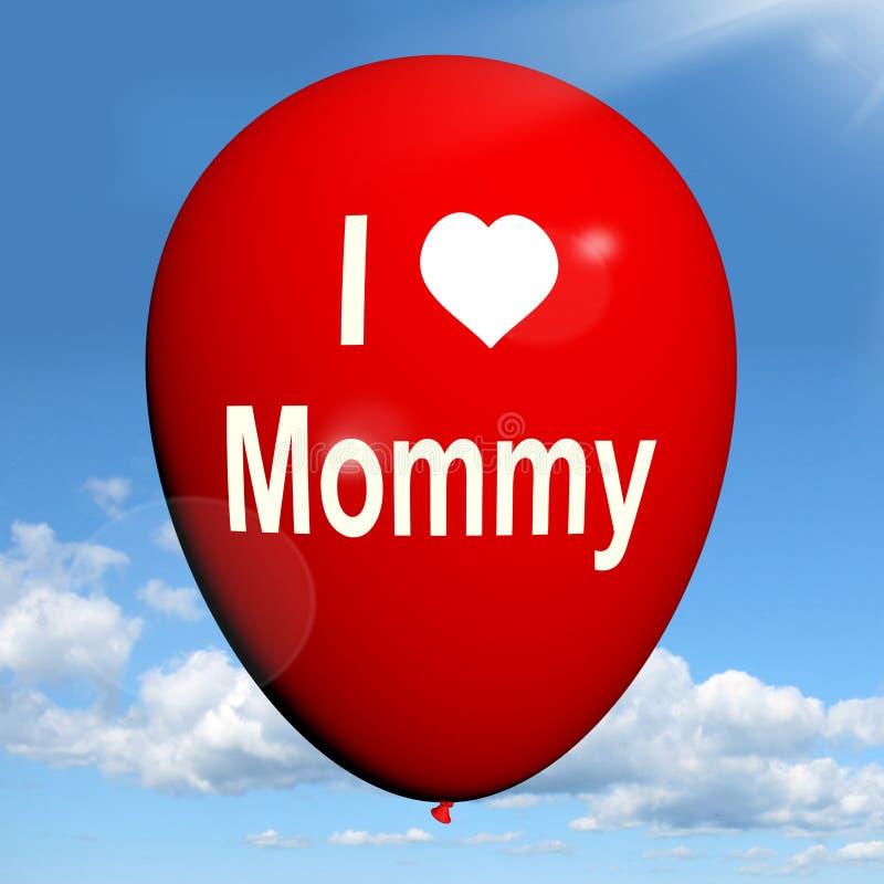 Kocham mamusia balonu przedstawień uczucia polubienie ilustracji