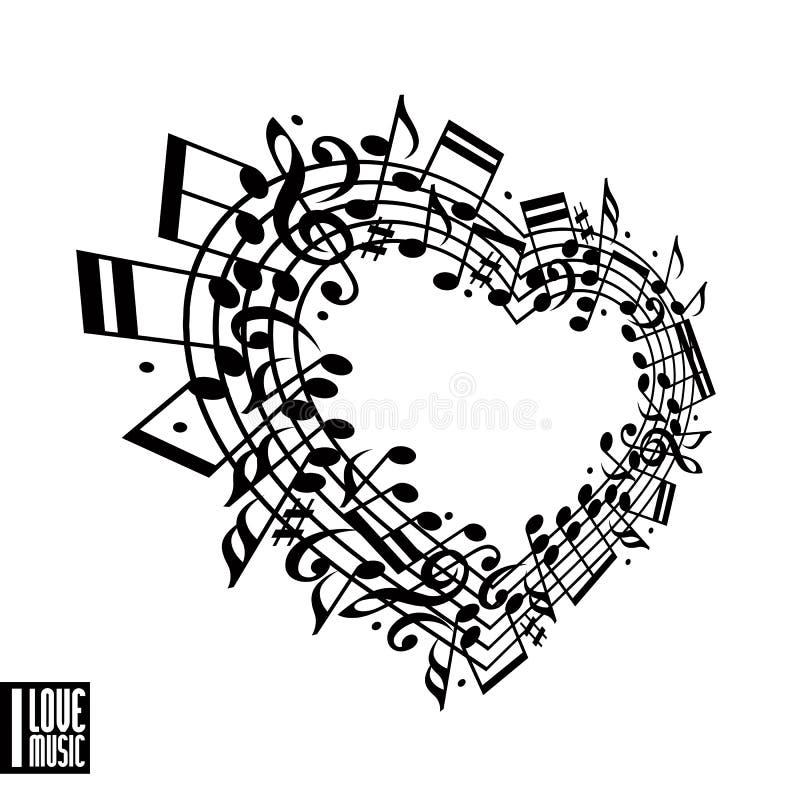 Kocham muzycznego pojęcie ilustracja wektor