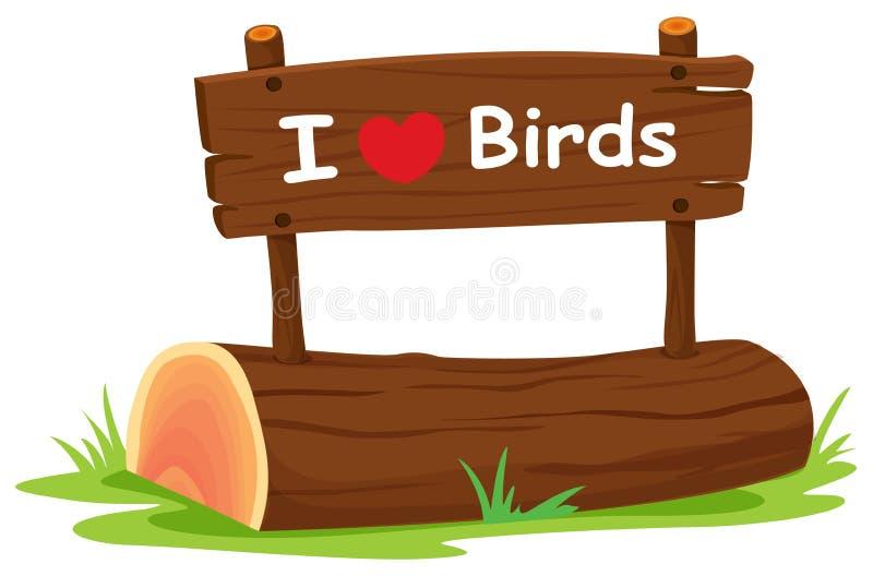 Kocham ptaki royalty ilustracja