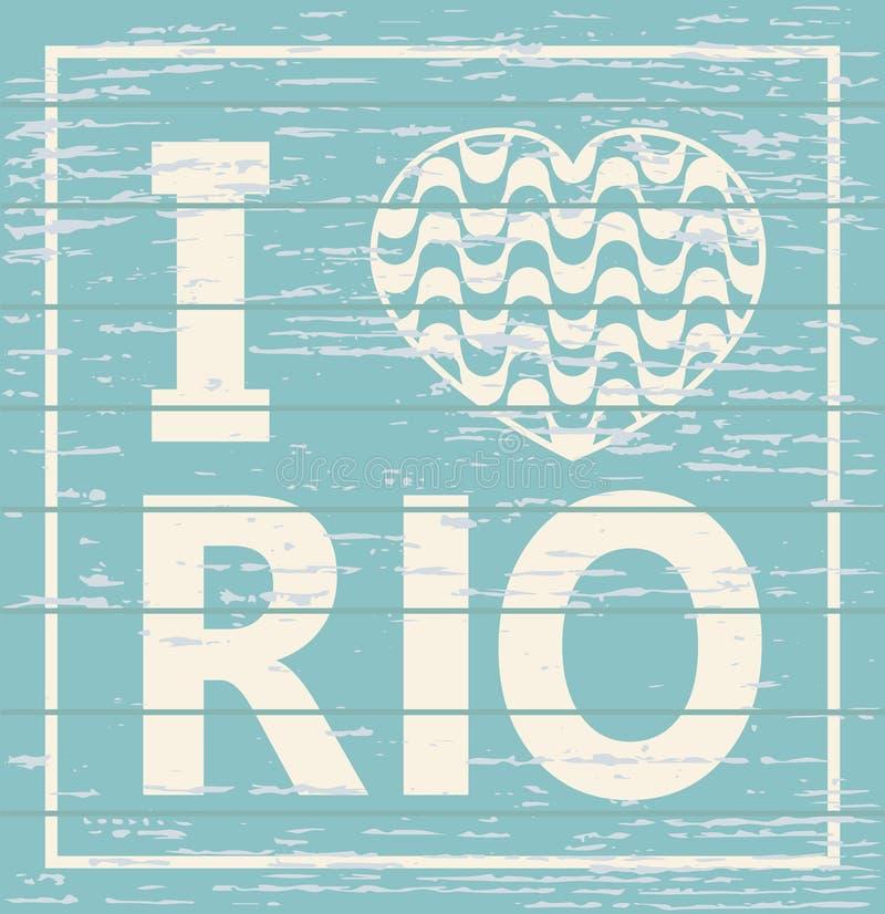 Kocham Rio De Janeiro royalty ilustracja