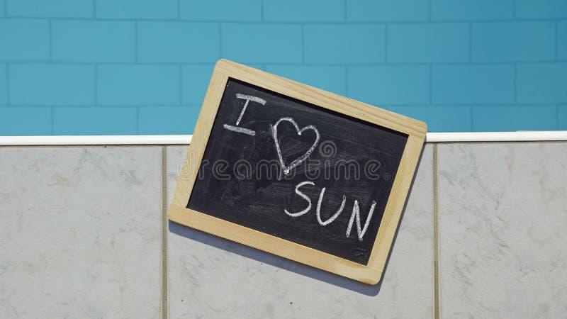 Kocham słońce obrazy royalty free