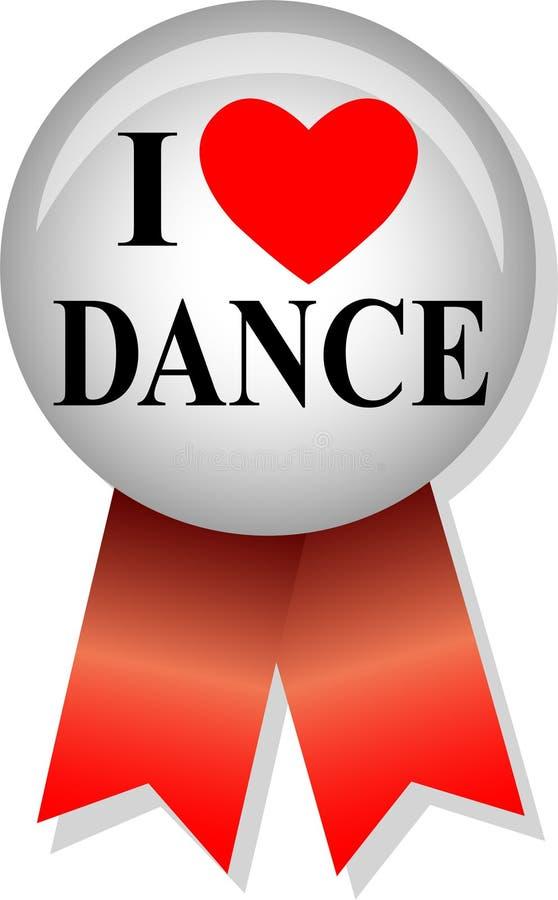 kocham tańczyć eps przycisk ilustracja wektor