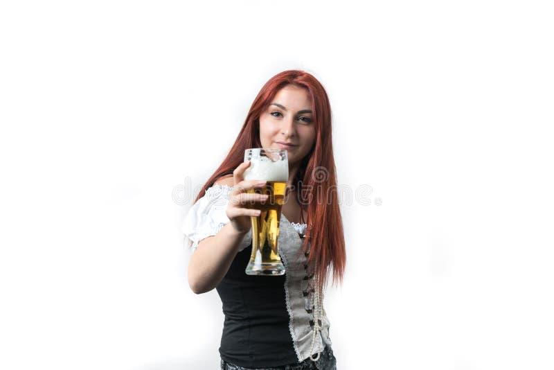 Kocham złotego, świeżego piwo, zdjęcia stock