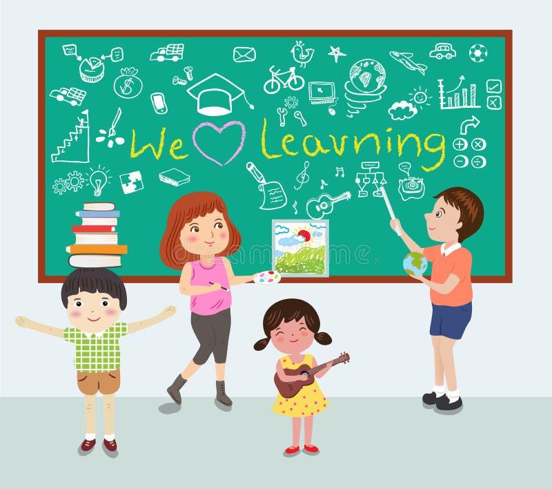 Kochamy uczenie ilustrację ilustracji