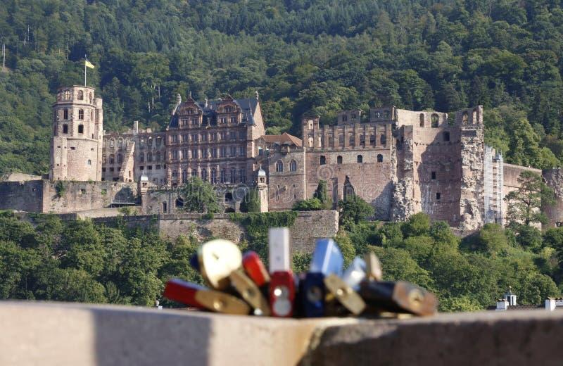 Kochanek kłódki w Heidelberg obrazy stock