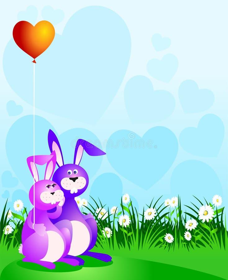 kochanków śmieszni króliki ilustracji