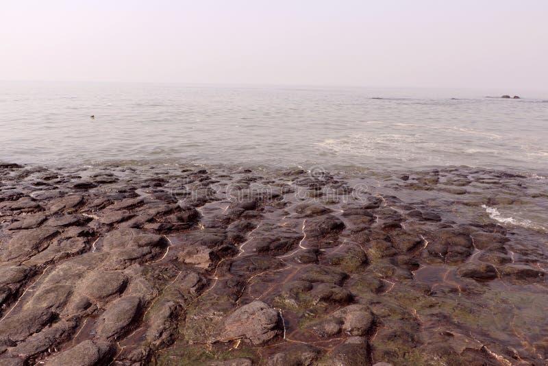 Kochanka punkt Mumbai dla pary Bandstand plaży fotografia stock