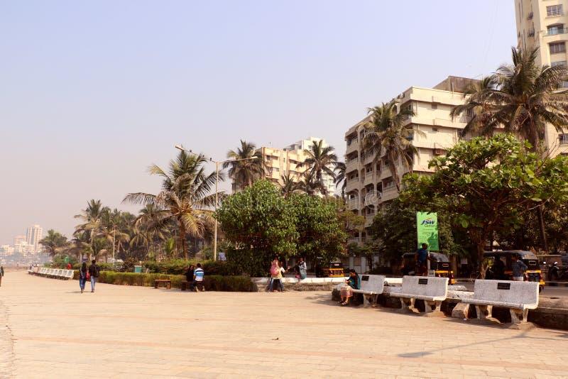 Kochanka punkt Mumbai dla pary Bandstand plaży lokalizować w Bandra obrazy royalty free