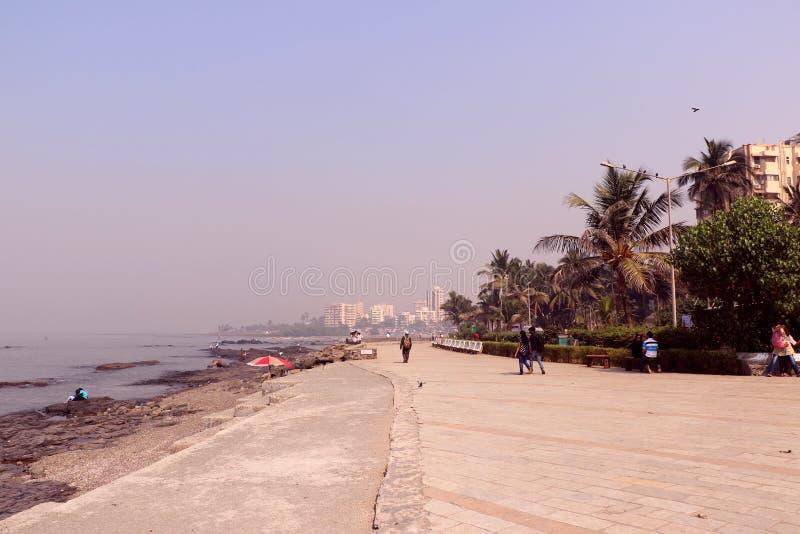 Kochanka punkt Mumbai dla pary Bandstand plaży lokalizować w Bandra obraz stock