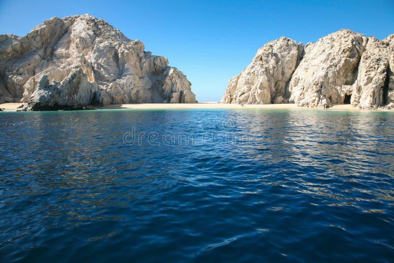 Kochanka ` s plaża w Cabo San Lucas obraz royalty free
