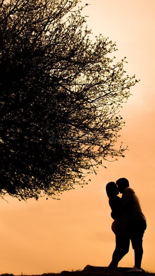 Kochankowie słońcem obraz stock