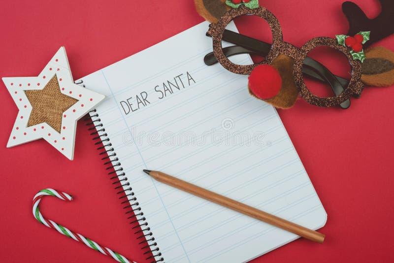 Kochany Santa, list Santa Claus zdjęcia royalty free