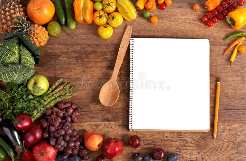 Kochbuch. Kopieren Sie Raum stockfotografie