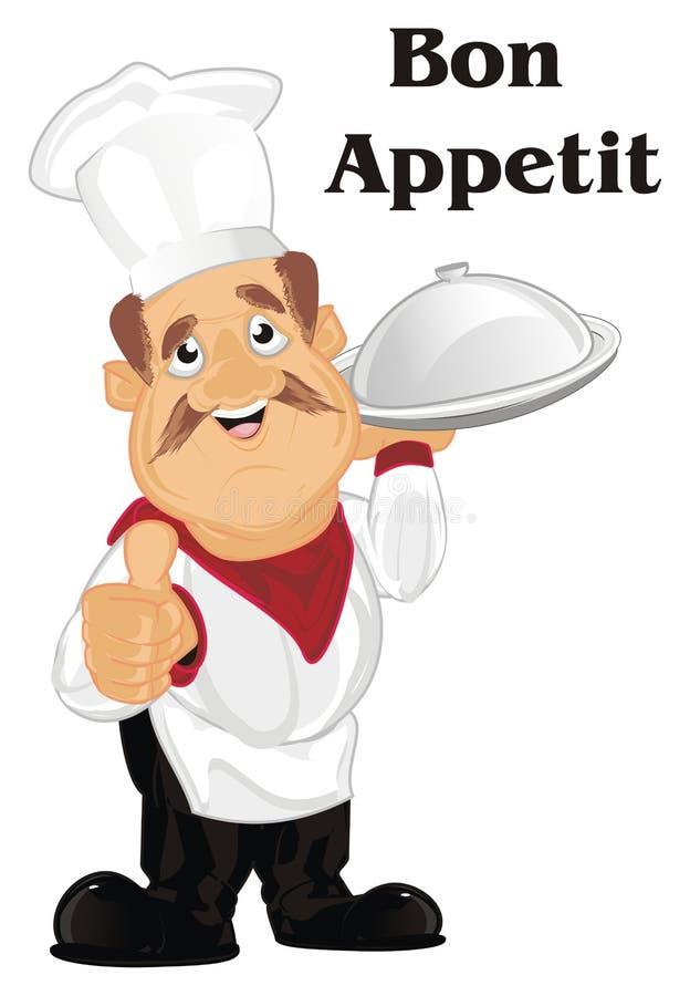 Kochen Sie sagen Bon appetit vektor abbildung