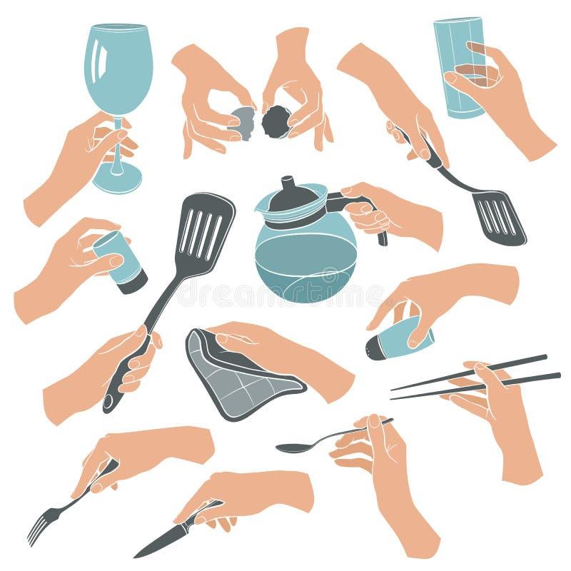 Kochen von Handentwürfen lizenzfreie abbildung