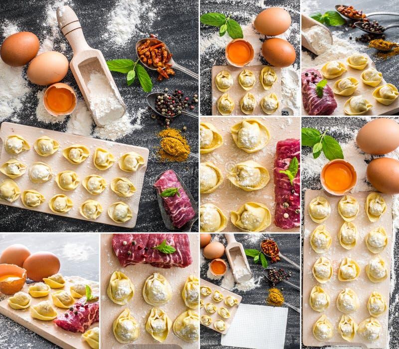 Kochen von Mehlklößen lizenzfreies stockfoto