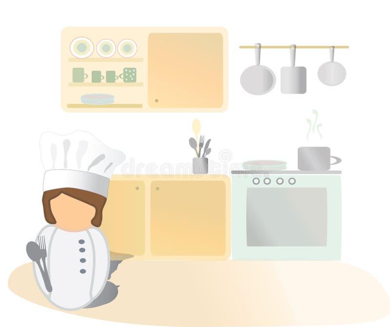 Kocher-Ikone. stock abbildung