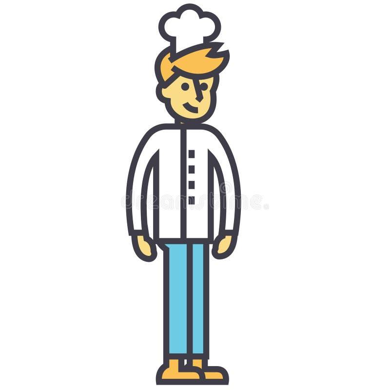 Kocher, junger Barmixer, Chefkonzept stock abbildung