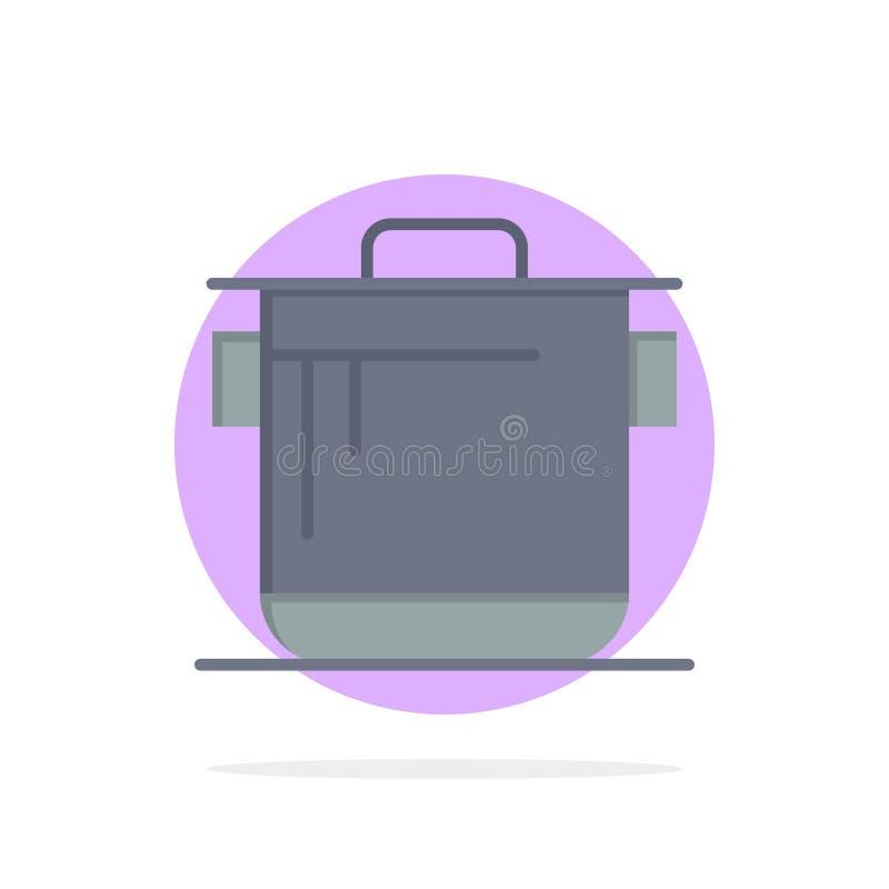 Kocher, Küche, Reis, flache Farbekoch-Abstract Circle Backgrounds ikone stock abbildung