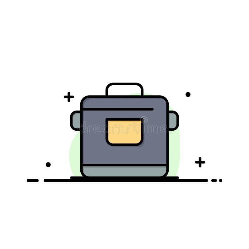 Kocher, Küche, Reis, Hotel-Geschäft Logo Template flache Farbe lizenzfreie abbildung