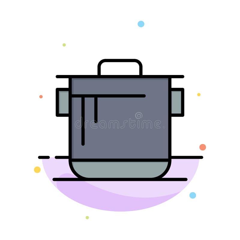 Kocher, Küche, Reis, Koch-Abstract Flat Color-Ikonen-Schablone vektor abbildung