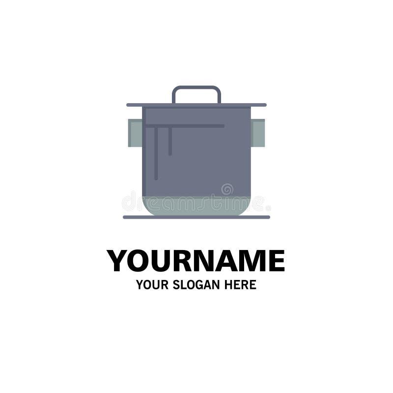 Kocher, Küche, Reis, Koch Business Logo Template flache Farbe vektor abbildung