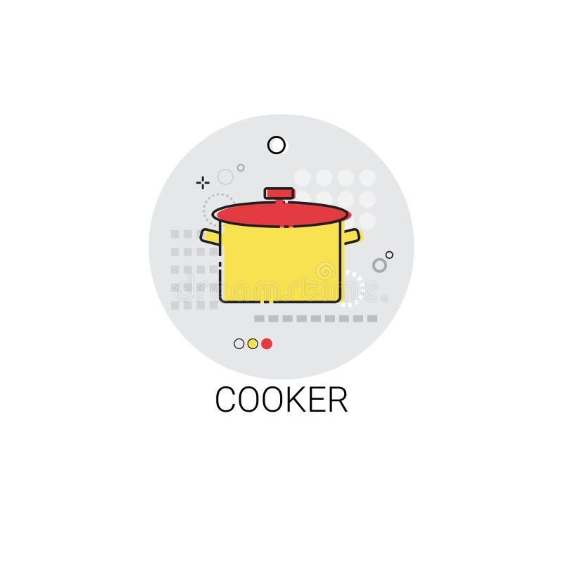Kocher-Pan Cooking Utensils Kitchen Equipment-Geräteikone stock abbildung