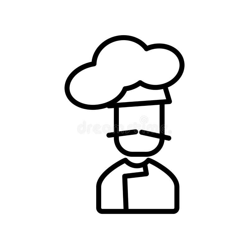 Kocherikonenvektor lokalisiert auf weißem Hintergrund, Kocherzeichen, Linie oder linearem Zeichen, Elemententwurf in der Entwurfs stock abbildung