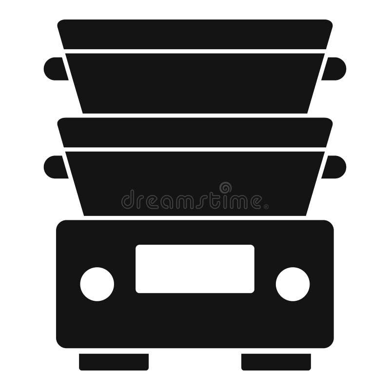 Kochgeschirrausrüstungsikone, einfache Art lizenzfreie abbildung