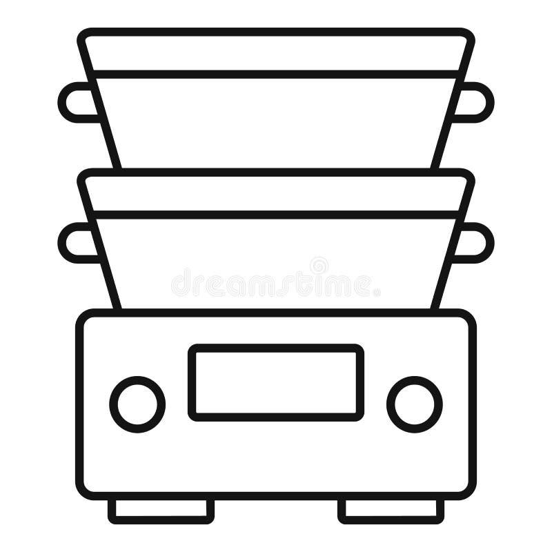 Kochgeschirrausrüstungsikone, Entwurfsart lizenzfreie abbildung